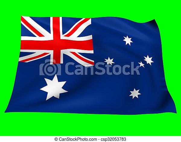 Flag of australia - csp32053783