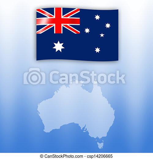 flag of Australia - csp14206665