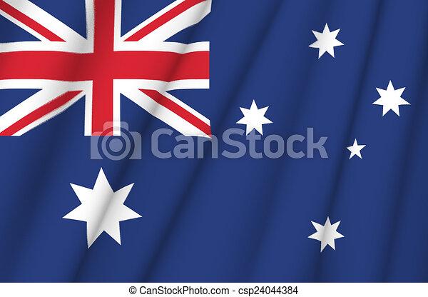 Flag of Australia - csp24044384
