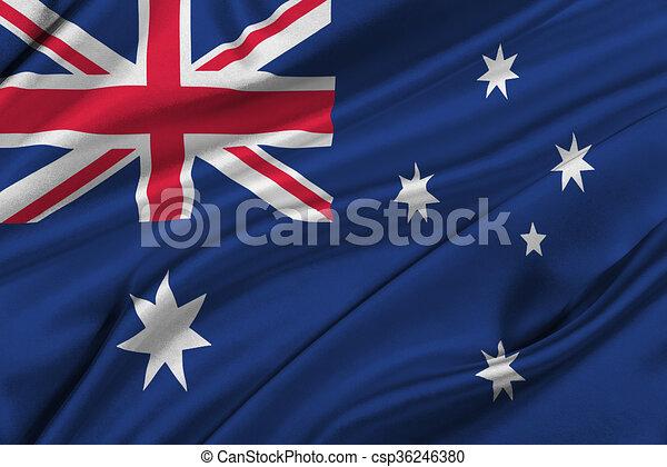 Flag of Australia. - csp36246380