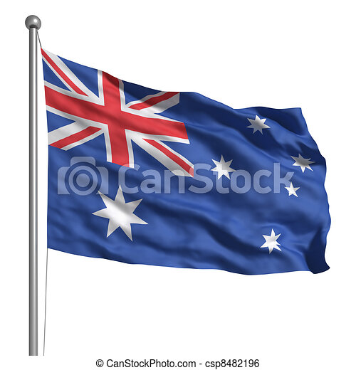 Flag of Australia - csp8482196