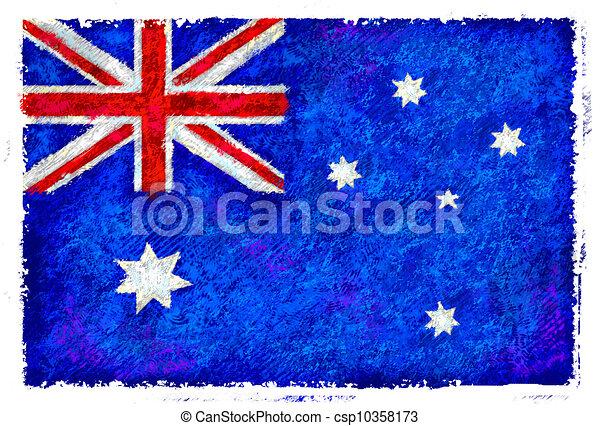 Flag of Australia - csp10358173