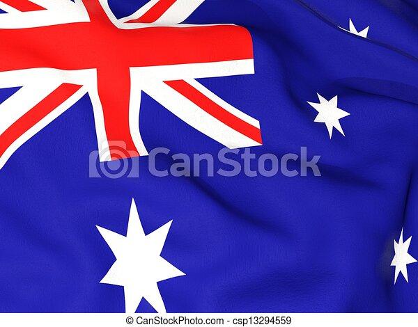 Flag of australia - csp13294559