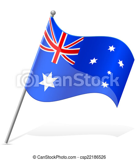 flag of Australia vector illustration - csp22186526