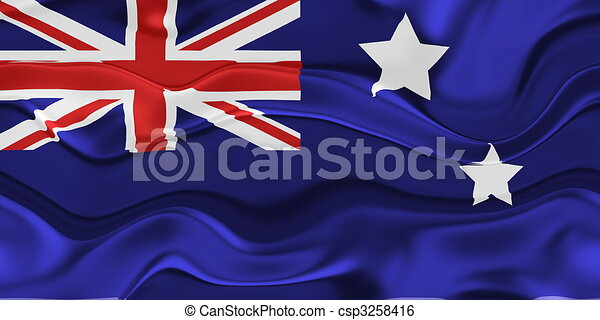 Flag of Australia wavy - csp3258416