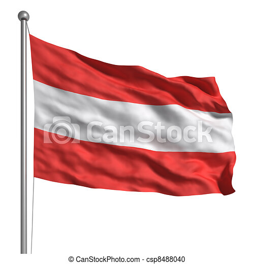 Flag of Austria - csp8488040