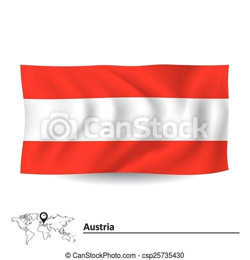 Flag of Austria - csp25735430