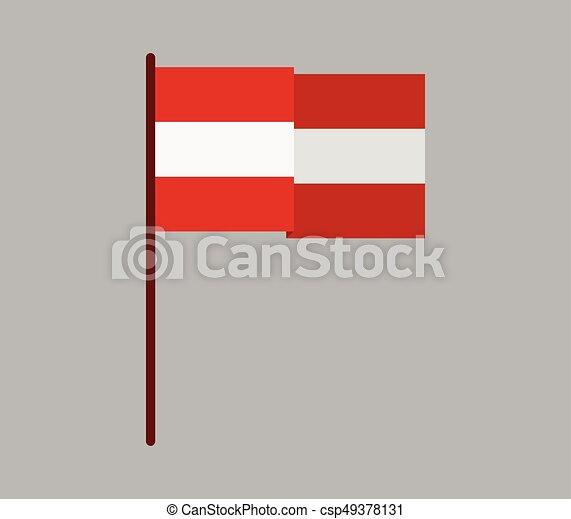 Flag of austria - csp49378131