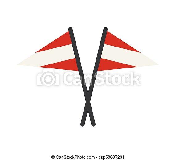 flag of austria - csp58637231