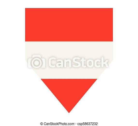 flag of austria - csp58637232
