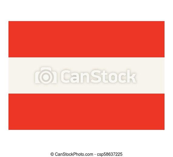 flag of austria - csp58637225