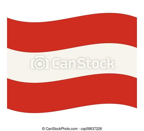 flag of austria - csp58637226