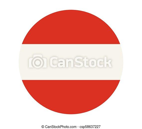 flag of austria - csp58637227