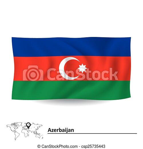 Flag of Azerbaijan - csp25735443
