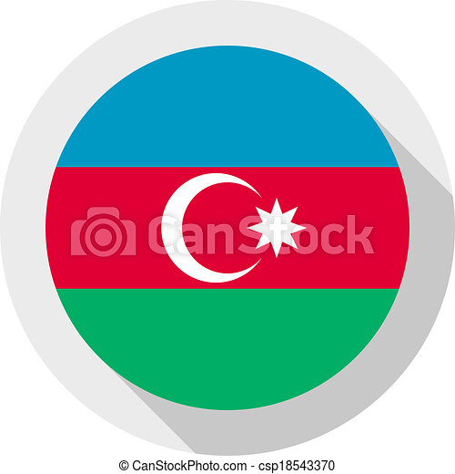 Flag of Azerbaijan - csp18543370