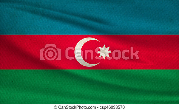 Flag of Azerbaijan. - csp46033570