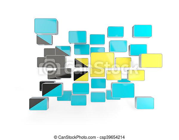 Flag of bahamas, mosaic background - csp39654214