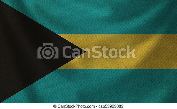 Flag of Bahamas. - csp53923083