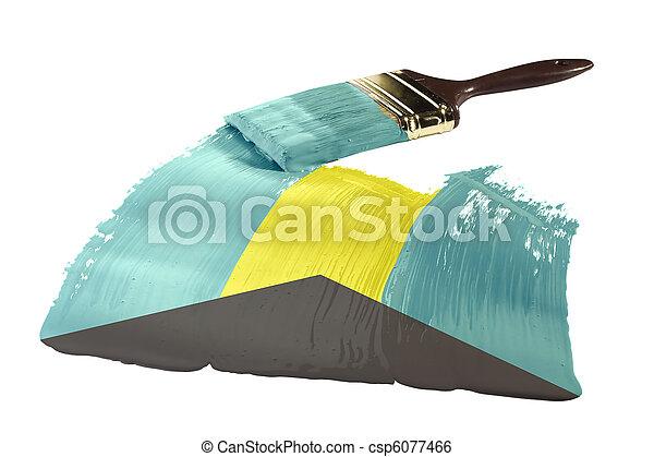 Flag of Bahamas - csp6077466