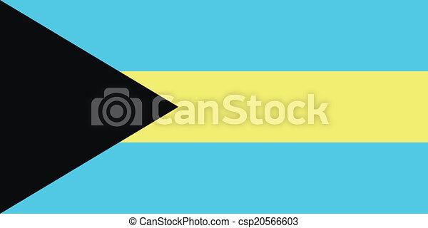 Flag of Bahamas - csp20566603