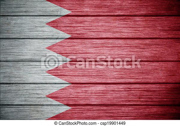 flag of bahrain Background texture wood - csp19901449