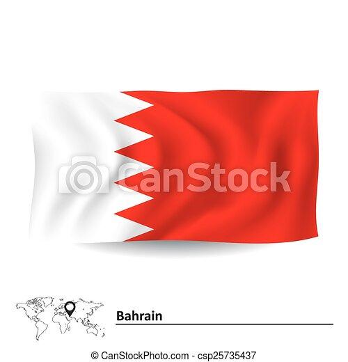 Flag of Bahrain - csp25735437
