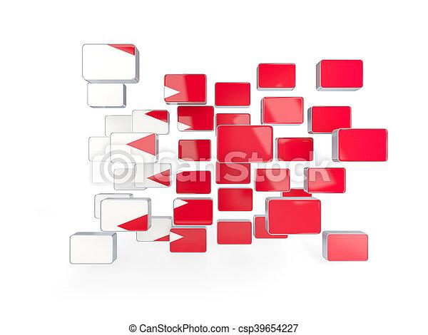 Flag of bahrain, mosaic background - csp39654227