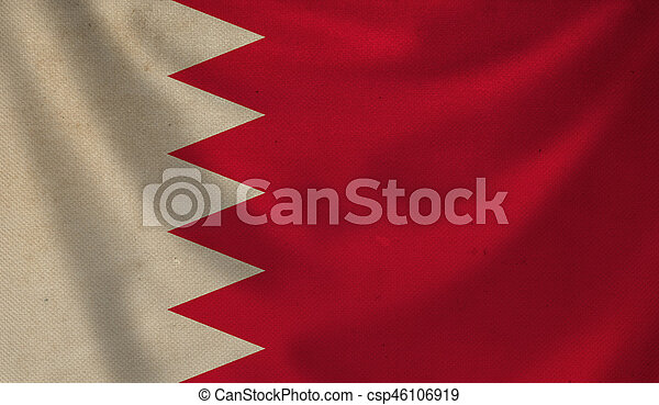 Flag of Bahrain. - csp46106919
