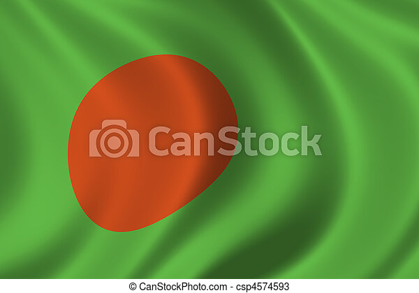 Flag of Bangladesh - csp4574593