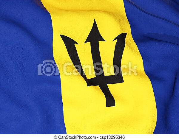 Flag of barbados - csp13295346