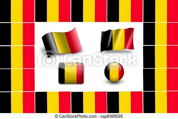 flag of Belgium. icon set - csp8368595