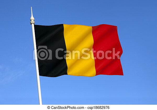 Flag of Belgium - csp18682976