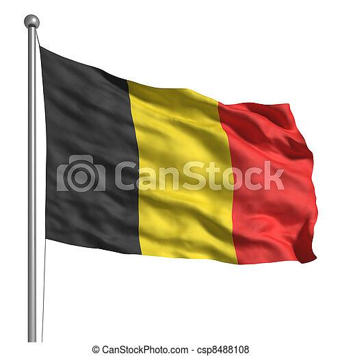 Flag of Belgium - csp8488108