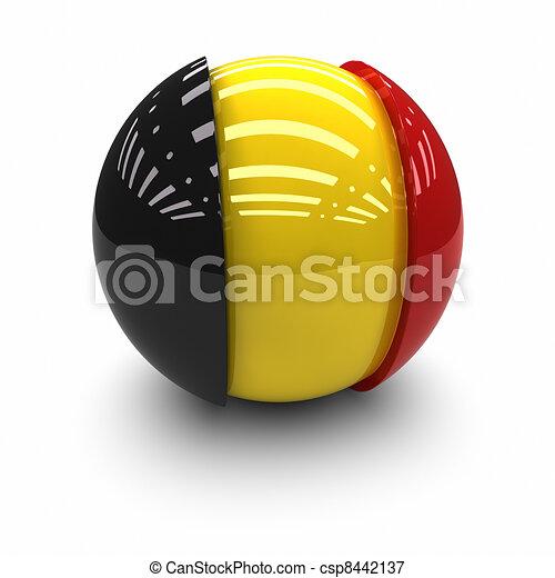 Flag of Belgium - csp8442137