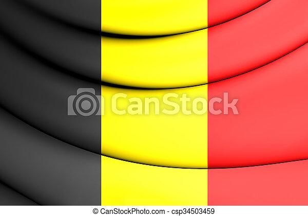 Flag of Belgium - csp34503459