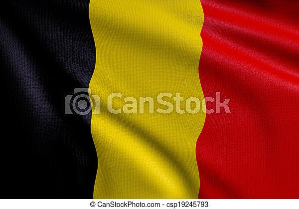 Flag of Belgium - csp19245793