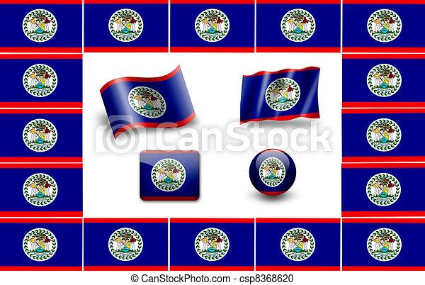 flag of Belize. icon set - csp8368620