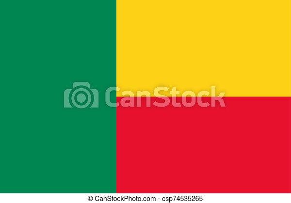 Flag of Benin Vector illustration eps 10 - csp74535265