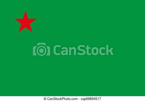 Flag of Benin vector illustration EPS10 - csp69894517