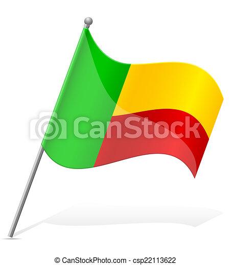 flag of Benin vector illustration - csp22113622
