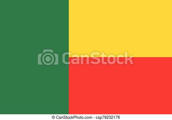 Flag of Benin vector illustration - csp79232178