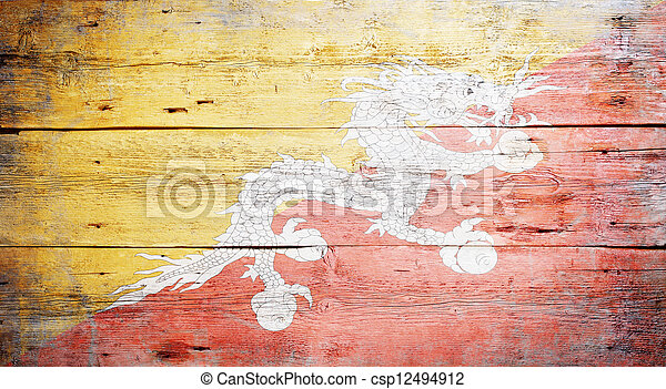Flag of Bhutan - csp12494912