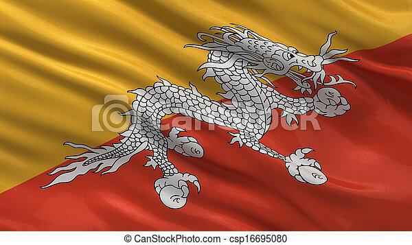 Flag of Bhutan - csp16695080