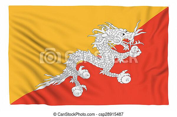 Flag of Bhutan - csp28915487