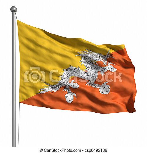 Flag of bhutan - csp8492136