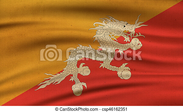 Flag of Bhutan. - csp46162351