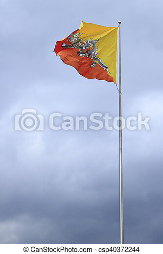 Flag of Bhutan - csp40372244