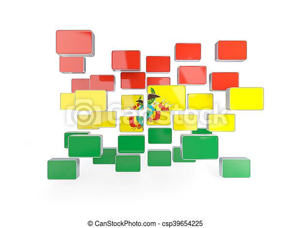 Flag of bolivia, mosaic background - csp39654225