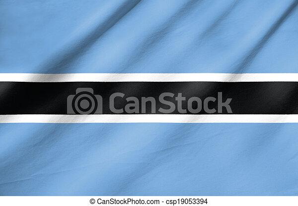 Flag of Botswana - csp19053394
