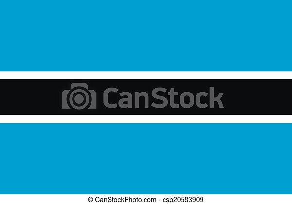 Flag of Botswana - csp20583909